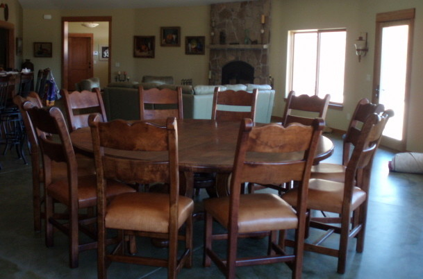 Furnishing Of Mesquite Wood Mediterranean Dining Tables