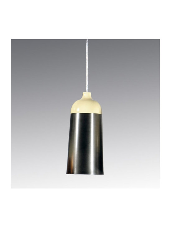 Innermost - Glaze 14 Pendant - The Glaze Pendant features a Charcoal Shade and a Cream finish. One 100 watt 120 volt A19 type medium base bulb is required, but not included. 5.5 inch diameter x 12 inch height. Cable is included for a maximum overall length of 169.5 inches.