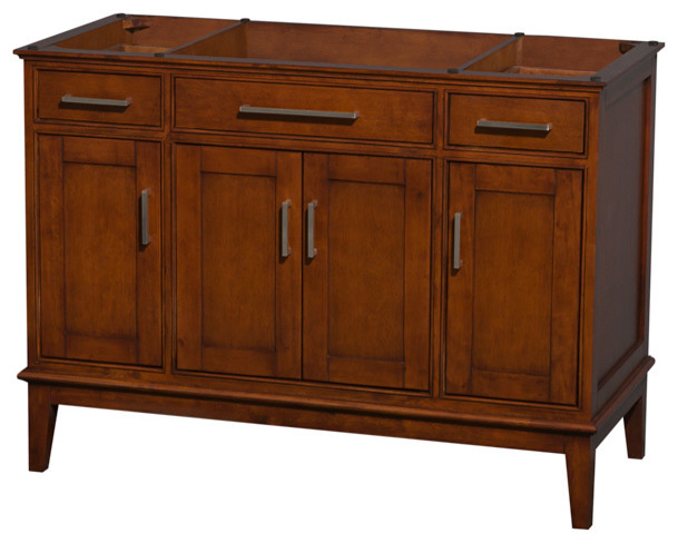 "Hatton 48"" Light Chestnut Single Bathroom Vanity, No Countertop, No Sink modern-bathroom-vanities-and-sink-consoles"