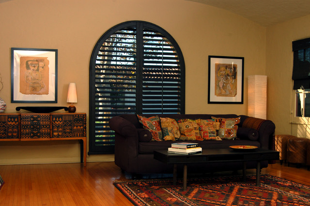 Stained Shutters window-treatments