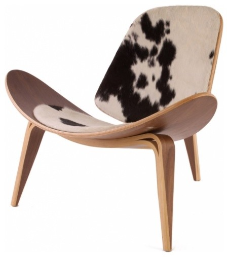 Hans Wegner Shell Chair In Pony Hide By Rove Concepts Midcentury Armchair