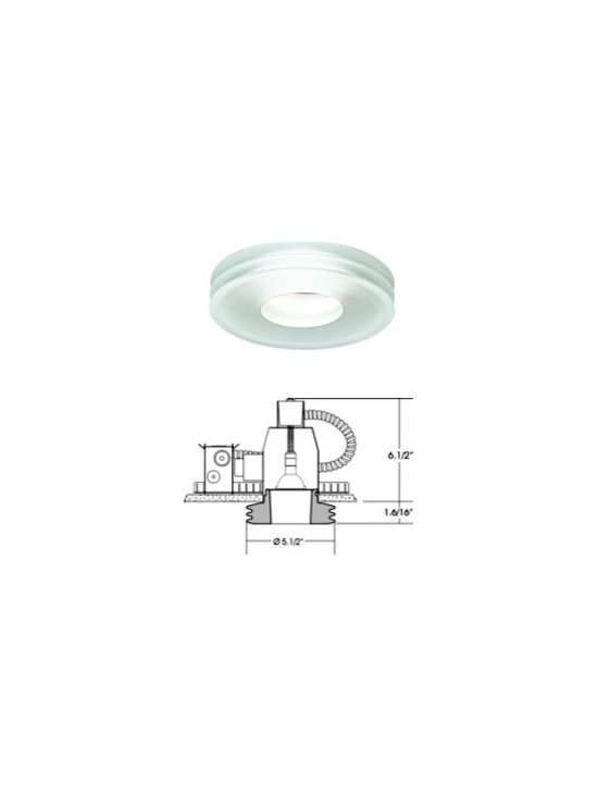 Disk Ceiling Lamp By Leucos Lighting - Leucos recessed fixtures Disk is a semi-recessed, low-voltage fixture providing downward light through a poured glass diffuser available in crystal or satin white glass with a clear tip.