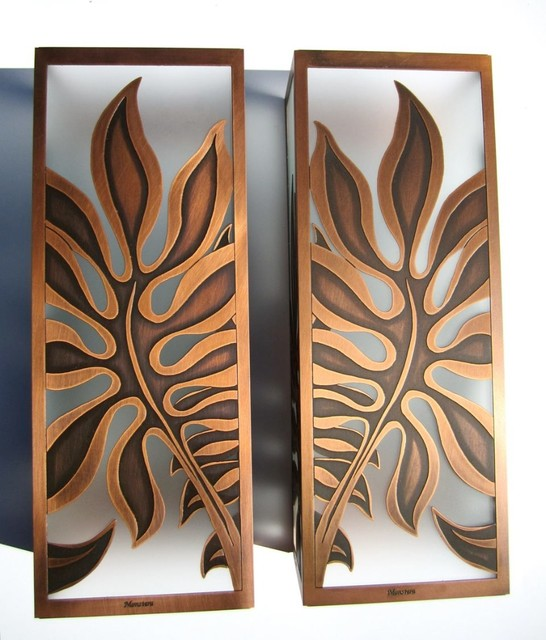Monstera Sconces - Tropical - Wall Sconces - hawaii - by Paradise Lights