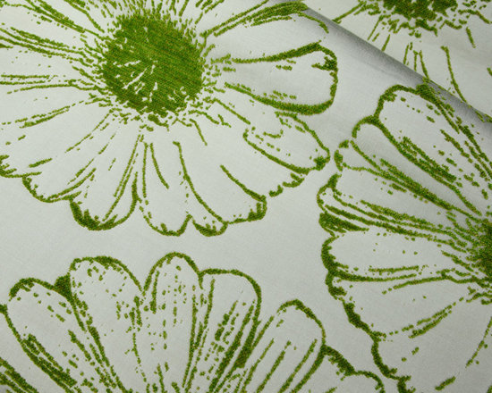 Flower Garden Indoor-Outdoor Upholstery in Lime - Flower Garden Indoor Outdoor Upholstery Fabric in Cream & Lime Green. 100% solution dyed acrylic jacquard perfect for upholstering patio seats and pillows.
