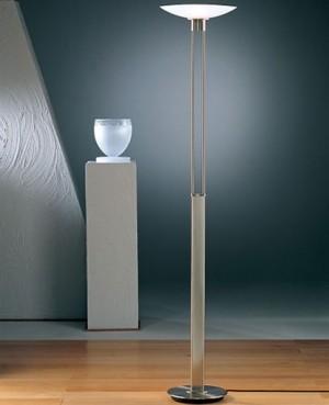 2517 Torchiere With Glass Floor Lamp Modern Floor