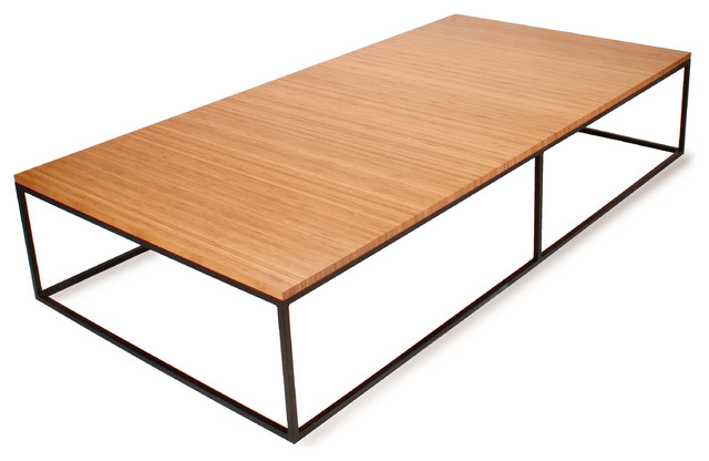 Nimbus Bamboo Large Rectangle Coffee Table Modern Coffee Tables Other Metro By Eugene