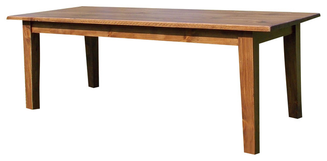 Shaker Farmhouse Dining Table Brown Cedar Stain 36 X 60 X 30 Traditional