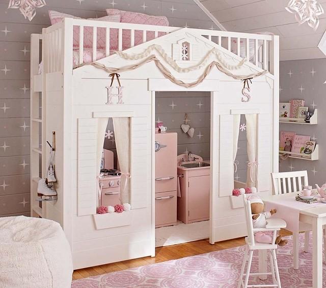 Cottage Loft Bed Kids Beds