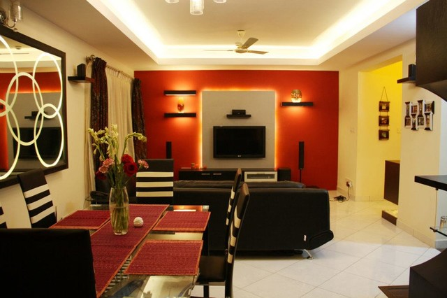 Sobha Rose contemporary-family-room