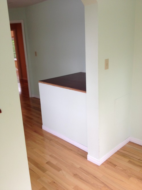 Awkward bulkhead in bedroom help please for Box over stairs bedroom ideas