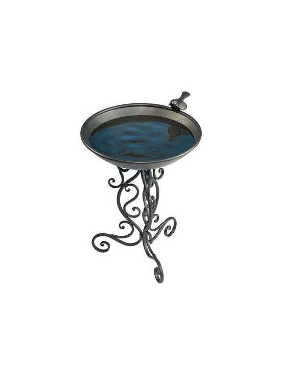 Gardman USA - Ornate Metal Bird Bath - Ornate Metal Bird Bath