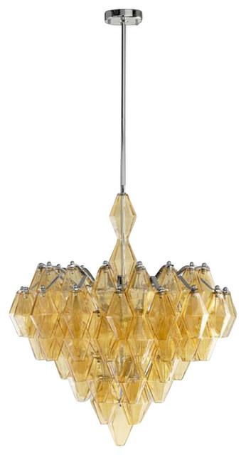 Large Boho Six Light Pendant contemporary-chandeliers