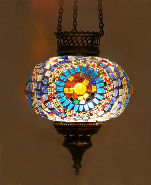 Turkish Style Mosaic Pendant Lamp 17cm
