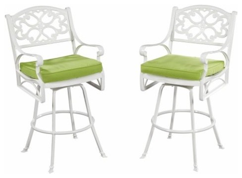 Home Styles Biscayne Patio Bistro Stool traditional-outdoor-benches