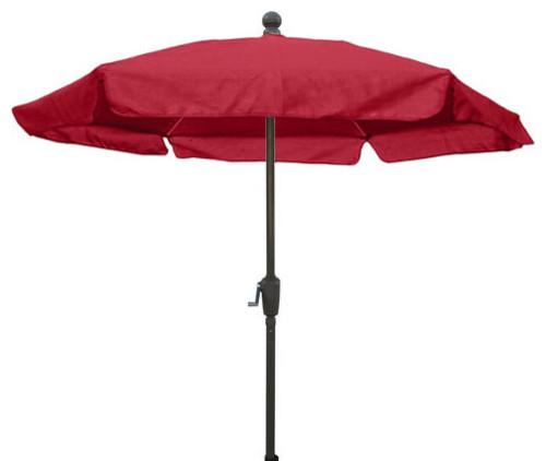 Fiberbuilt Umbrellas 7-1/2 ft. Patio Umbrella in Red Champ Bronze Finsih outdoor-umbrellas