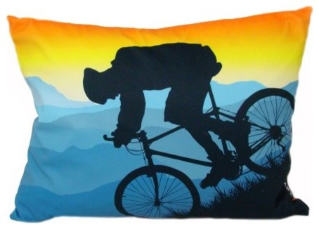 Mountain Bike 18 x 14 Pillow By Lava eclectic-decorative-pillows