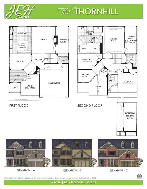 Thornhill Floor Plan Traditional Floor Plan Atlanta