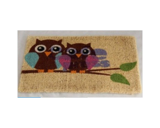 Coir Owl Love Doormat - Homescapes are manufacturers of a variety of home and soft furnishings. They are suppliers to quality retailers and hotels and now their products are available directly to public. This means that consumers can buy department store quality products directly from the manufacturers. Homescapes have now come out with a lovely collection of doormats