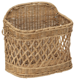 wicker wall mail basket traditional baskets other metro by kouboo. Black Bedroom Furniture Sets. Home Design Ideas