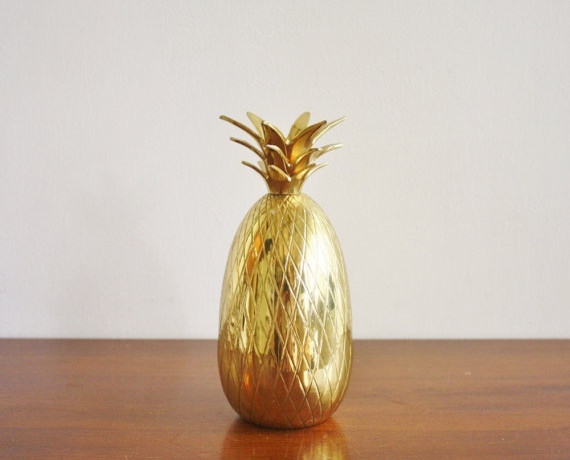 Vintage Brass Pineapple by High Street Market - Eclectic - Home Decor - by Etsy