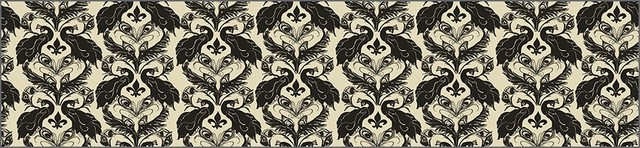 French Damask, Down/Anise Wallcoverings, Down/Anise, Large Roll (52 Sq Ft), Casa contemporary-wallpaper