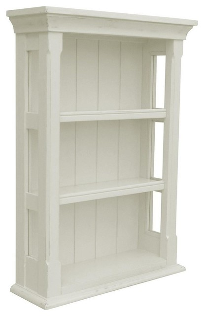 New Wall Cabinet White/Cream Painted - Traditional - Display And Wall Shelves