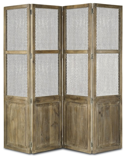 Cranbourne Folding Screen - Farmhouse - Screens And Room Dividers - by Masins Furniture