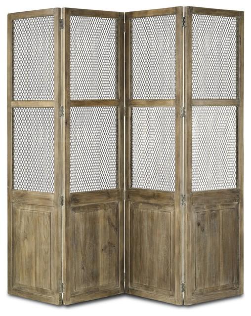 Cranbourne Folding Screen - Farmhouse - Screens And Room ...