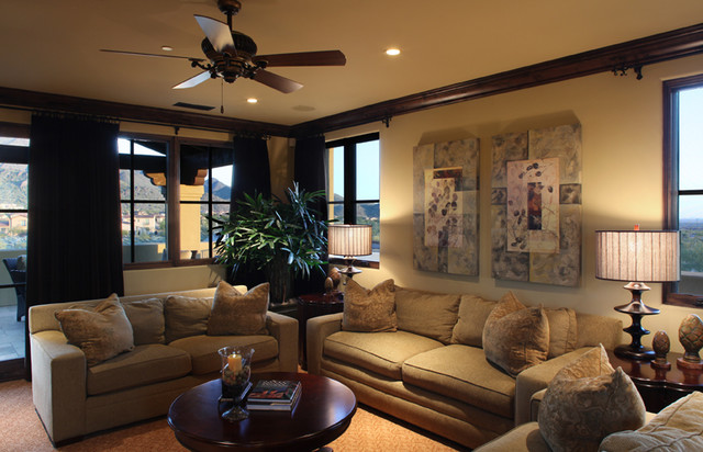 Schwab Luxury Homes and Interiors eclectic-home-theater