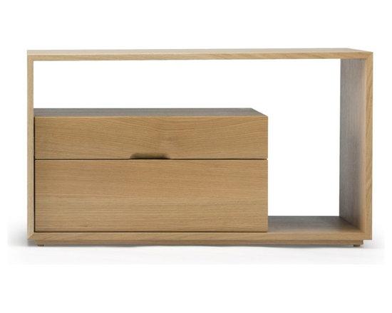 Skram Furniture - Skram Furniture Lineground 2-drawer Side Table / Nightstand #1 -