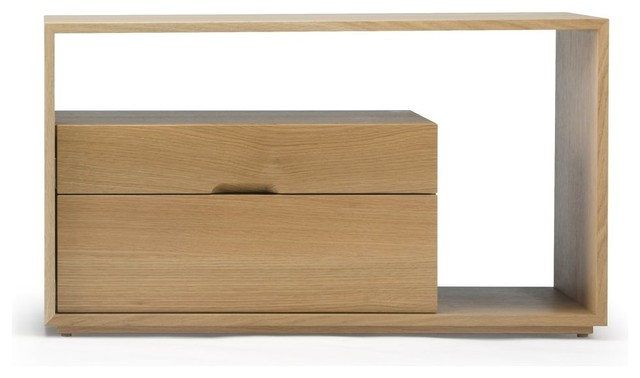 Skram Furniture Lineground 2-drawer Side Table / Nightstand #1 contemporary-nightstands-and-bedside-tables