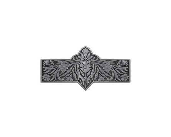 """Inviting Home - Dianthus Pull (antique pewter) - Hand-cast Dianthus Pull in antique pewter finish; 4-3/8""""W x 2-2/8""""H; Product Specification: Made in the USA. Fine-art foundry hand-pours and hand finished hardware knobs and pulls using Old World methods. Lifetime guaranteed against flaws in craftsmanship. Exceptional clarity of details and depth of relief. All knobs and pulls are hand cast from solid fine pewter or solid bronze. The term antique refers to special methods of treating metal so there is contrast between relief and recessed areas. Knobs and Pulls are lacquered to protect the finish. Detailed Description: The Dianthus knobs bring the sophisticated feel the antique homey feel to your cabinets. These pulls will be a great accent to old-world cabinets as well as bringing a polished feel to any antiqued furniture. Sometimes antique finishes end up looking a bit shabby and drabby but installing these knobs will make the cabinets pure chic. It would be a better choice to keep with Dianthus pulls if you would like to use them in conjunction with the pulls. Dianthus knobs are part of English Garden Hardware Collection. Reflecting the meticulous effort that produced these stunning gardens from a bygone era each of the knobs and pulls in this line features individually hand-cast and hand-finished design work. There are soft graceful roses and poppies (McKenna's Rose Knobs and Poppy Knobs) reminiscent of classic beauty and elegance. While other like Dianthus Pulls or Mountain Ash knobs feature crisply detailed styling with colorful background. Each knob's design marries Mother Nature and Craftsmanship into decorative hardware that adds beauty to any room of your home."""
