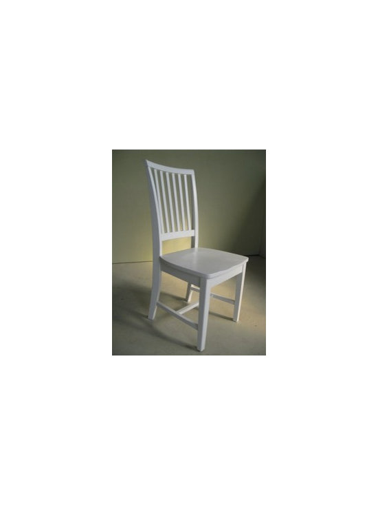 white schoolhouse mission chair - Made by www.ecustomfinishes.com
