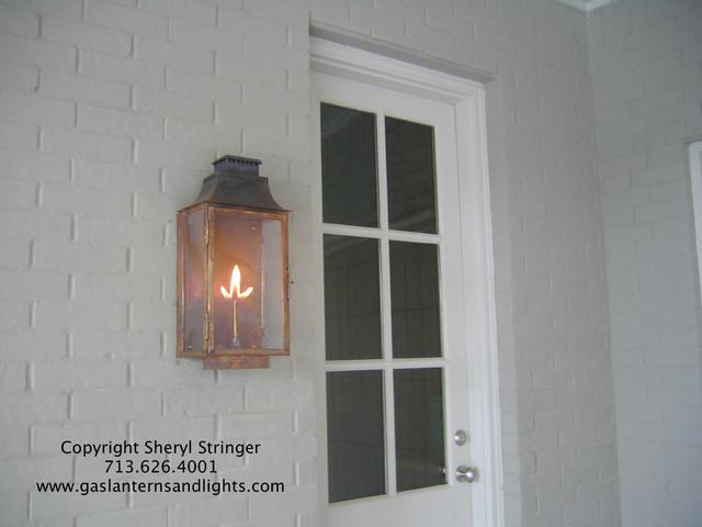Gas Lights, by Sheryl Stringer, gaslanternsandlights.com traditional-wall-lighting