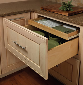 Base Deep Drawer Combination - Contemporary - Kitchen Drawer Organizers - other metro - by Merillat