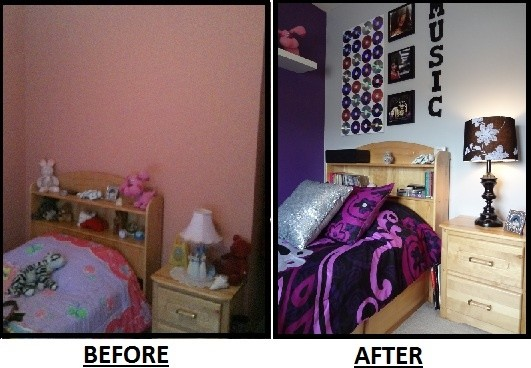 Teen Bedroom #1 - Before & After modern kids