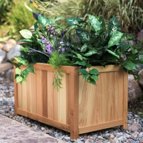 Give plants and roots plenty of room to spread out with the Large Rectangle Ceda traditional-outdoor-pots-and-planters