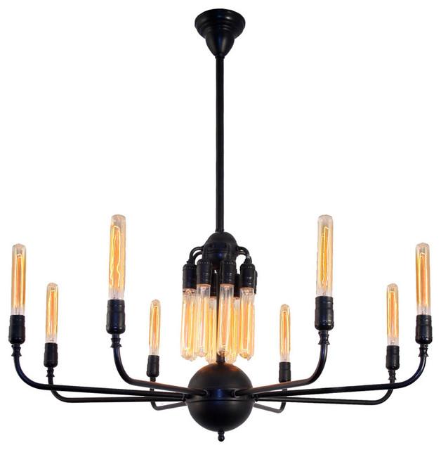 edison light bulb chandelier handcrafted 16 light. Black Bedroom Furniture Sets. Home Design Ideas