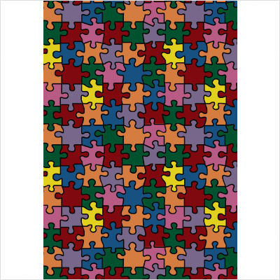 Kid Essentials Puzzled Jigsaw Pieces Kids Rug contemporary kids rugs