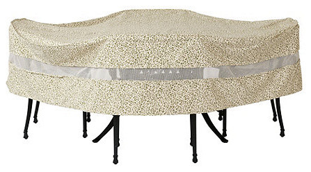 Outdoor Round Table & Chairs Cover - 108 inch traditional-outdoor-furniture-covers