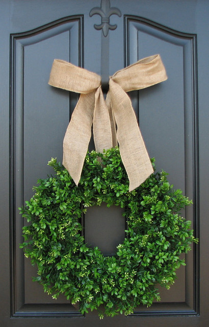 Spring Wreath By Twoinspireyou contemporary-holiday-outdoor-decorations