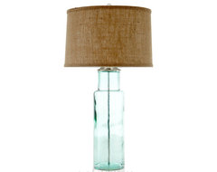 Green Glass Lamp contemporary-table-lamps