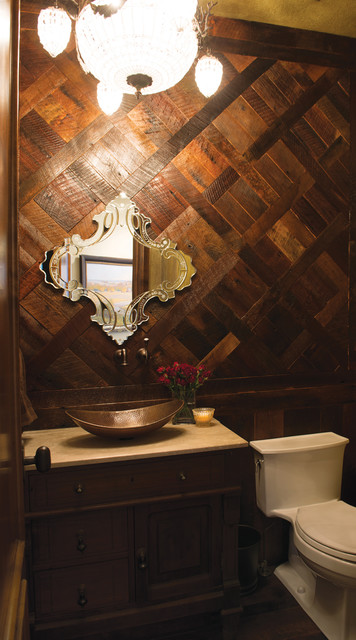 The Windy Hill House traditional-powder-room