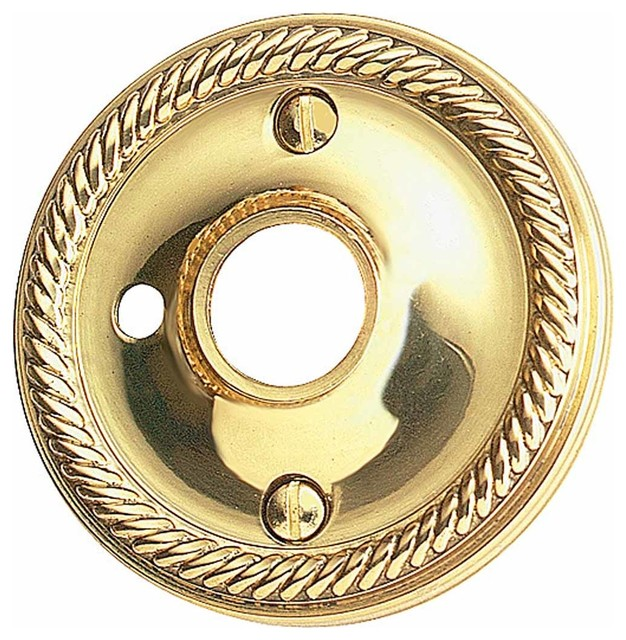 Door Knob Roses Bright Solid Brass Braided Knob Rose Privacy Hole | 66075 traditional-home-improvement