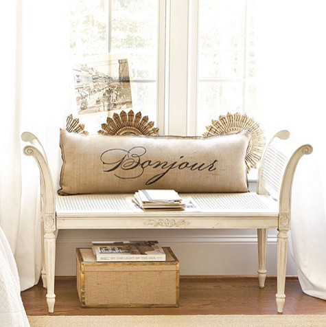 Bedroom Benches Ideas Antoinette Bench Traditional Indoor Benches By Ballard Designs