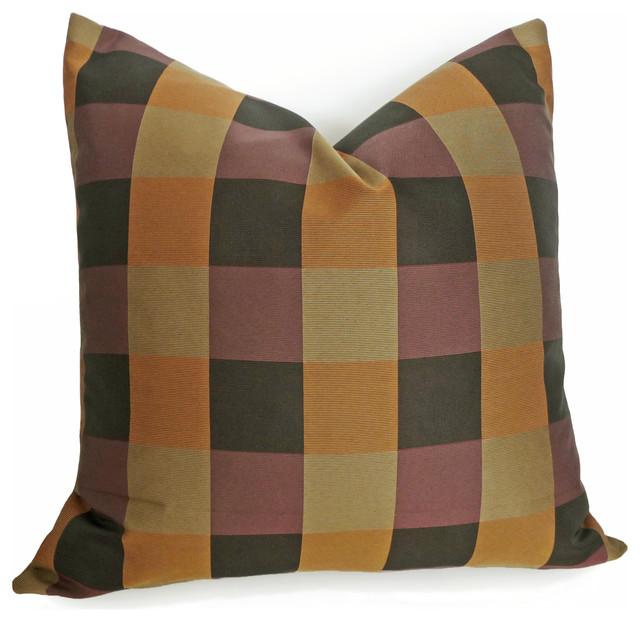 Contemporary Plaid Pillow contemporary-decorative-pillows