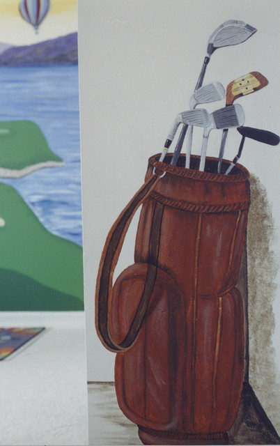 Golf with Tiger Woods eclectic-artwork