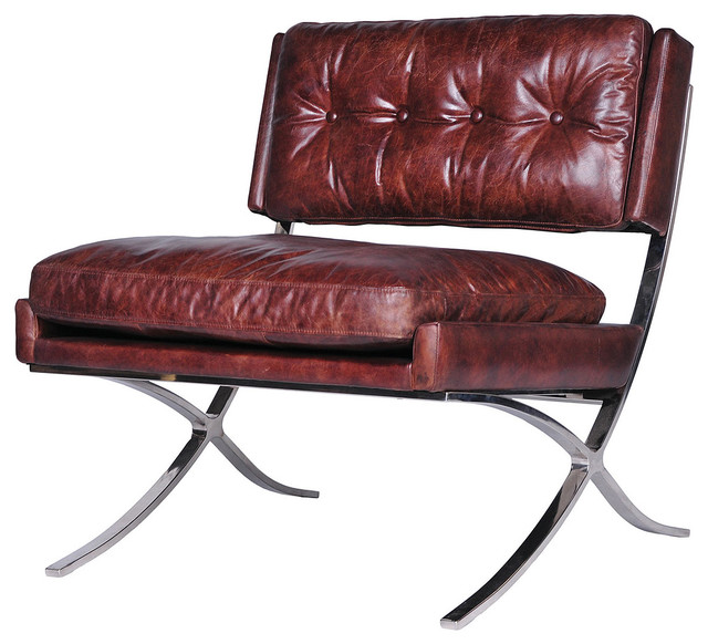 Heathrow Leather Lounge Chair-Cigar modern-armchairs-and-accent-chairs