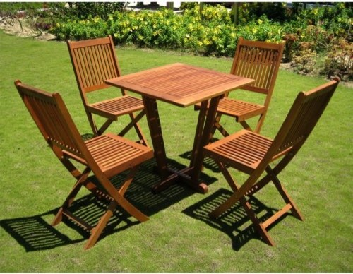 International Caravan Royal Tahiti Cadiz Outdoor Wood Patio Dining