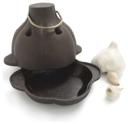 Cast Iron Garlic Roaster traditional-roasting-pans-and-racks